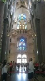 On the right aisle of the Sagrada Familia