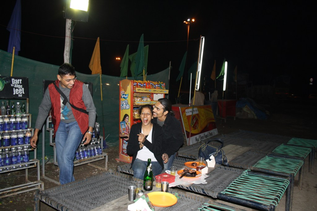 Fun on the roadside dhaba