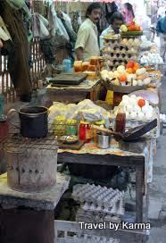 Egg stand - Street food of Kolkata