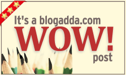 Awarded WOW badge by Blogadda