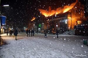 Snowfall in Shimla and Skiing in Kufri