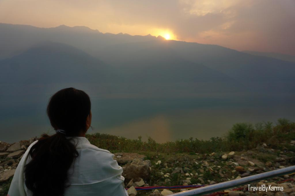 sunrise at tehri lake festival