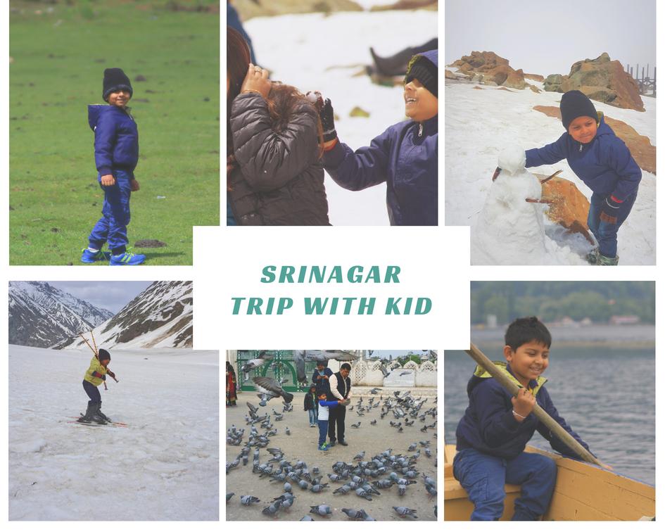 around Srinagar with kids