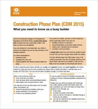 Example of Construction Phase Plan - Most Affordable Ways to Build a House