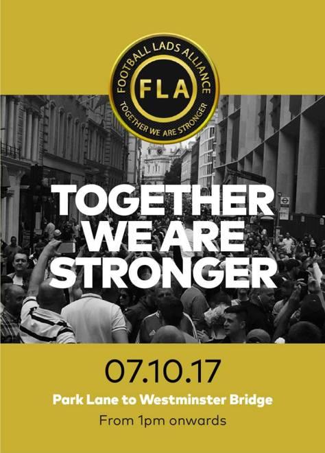 football, politics, terrorism, march, protest, watford, arsenal, spurs, west ham, millwall, Man Utd, Man City, Newcastle, Celtic, Rangers