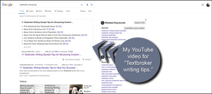 YouTube Writing Tips