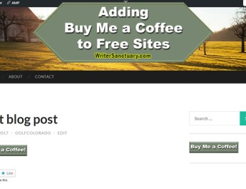 How to Add Buy Me a Coffee to Free WordPress Sites