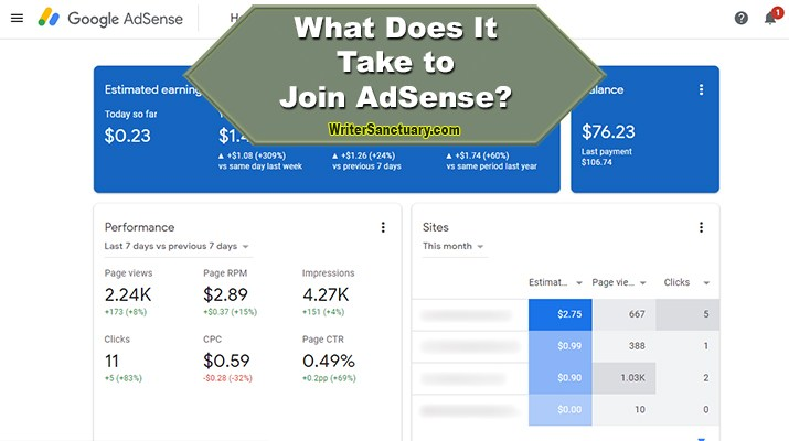 Content to Join AdSense