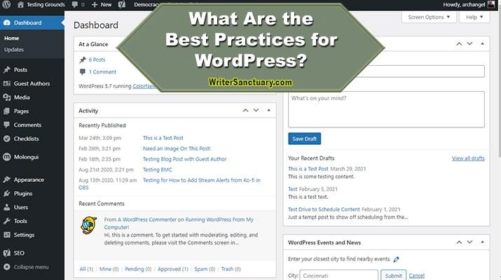 Best Practices for WordPress