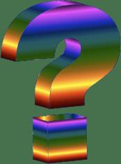 Prismatic 3D Question Mark