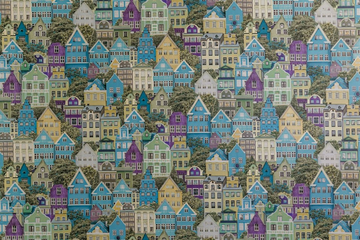 tiny houses in a pattern