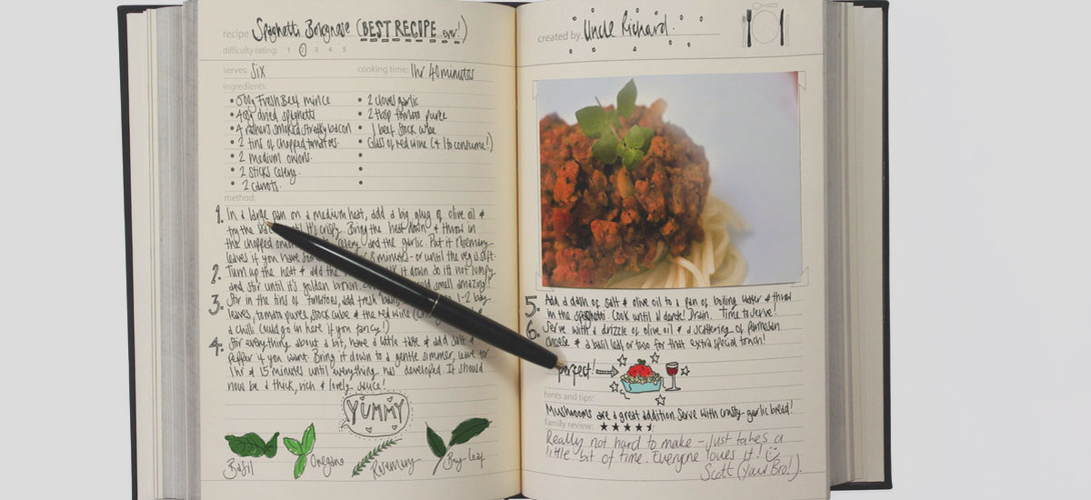Create Your Family Cookbook