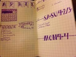 April's Journal Spread