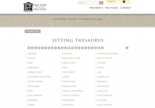 setting thesaurus