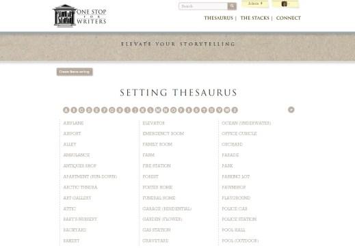 setting thesaurus