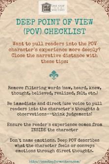 ONE STOP Deep POV Checklist