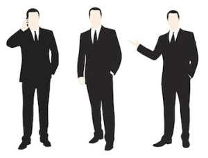 Canstock photo of three actual FBI agents.