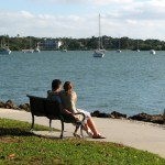couple by boats
