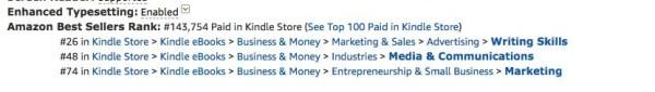 Amazon Best Sellers Rank Example - Penny