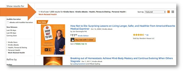 Amazon Work-Related Health Category