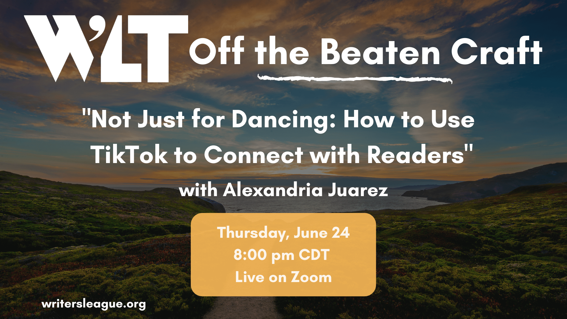 """Off the Beaten Craft """"Not Just For Dancing: How to Use TikTok to Connect with Readers"""""""