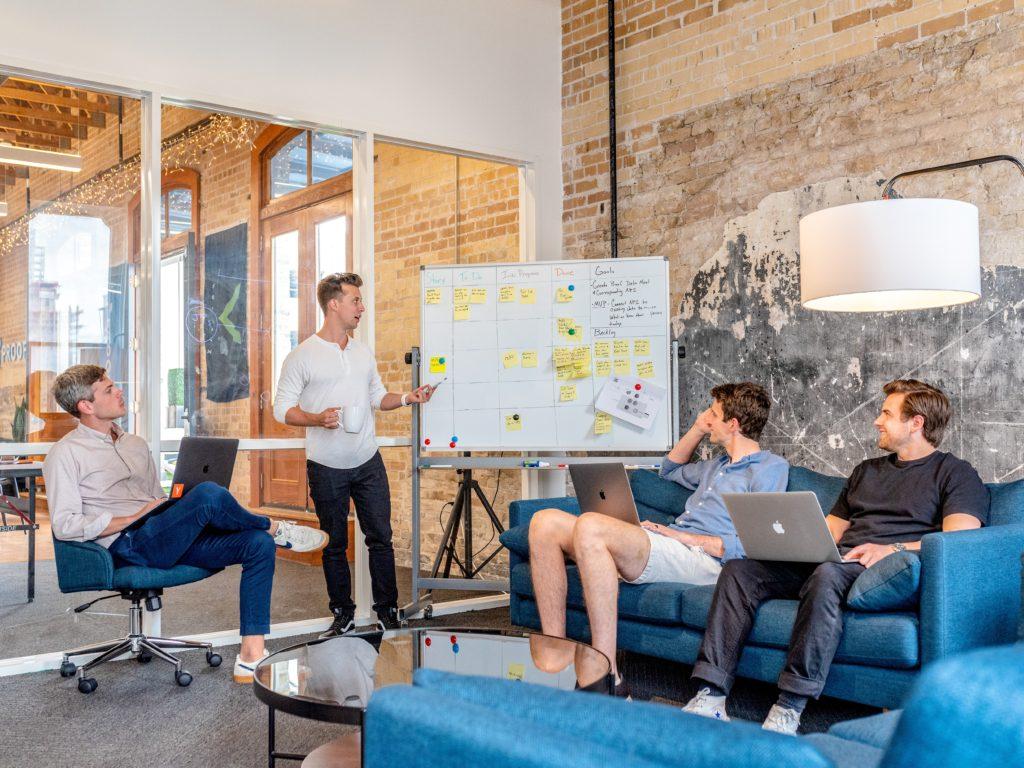 Professional business plan meeting