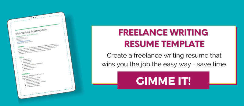 freelance writing resume email opt-in