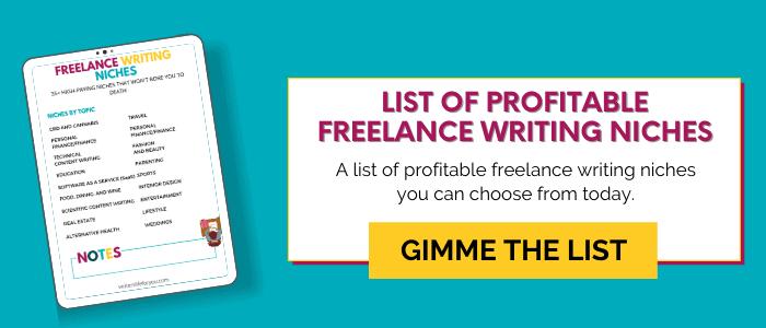 writerslifeforyou list of freelance writing niches