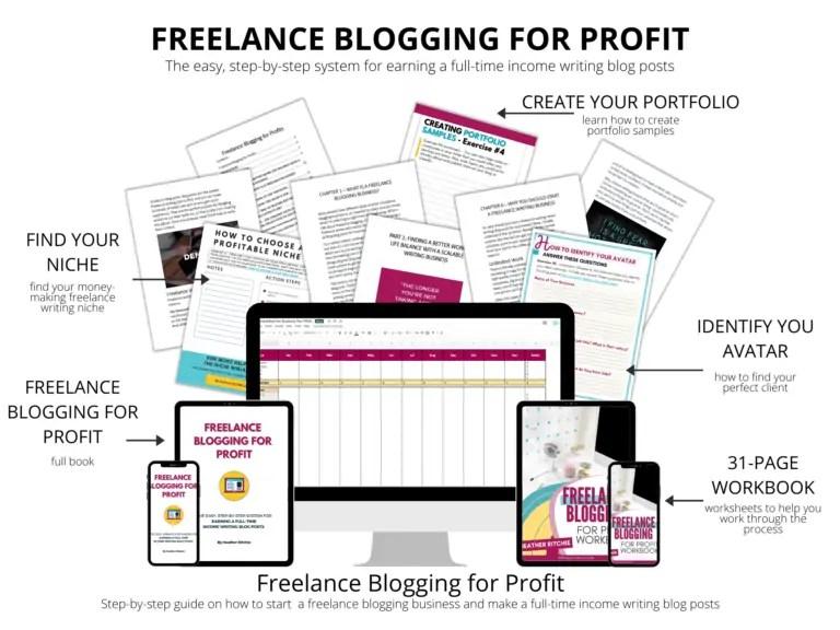 Freelance Blogging for Profit hero mockup