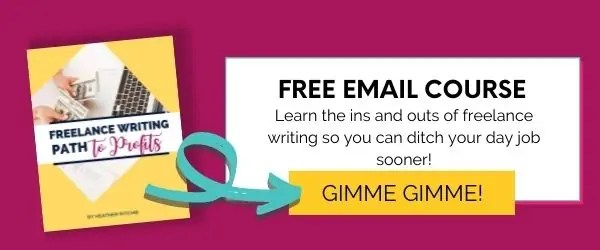 Freelance Writing Path to Profits email opt-in