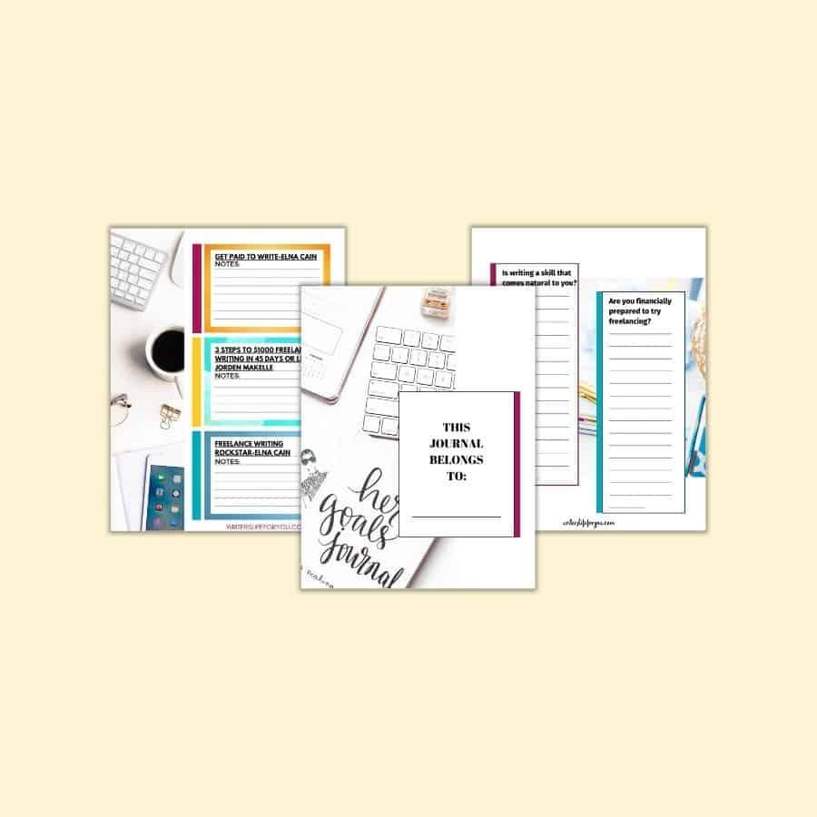 Freelance Writing for Beginners Journal Mockup