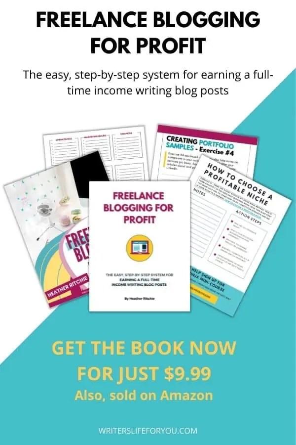 Freelance blogging for profit side bar image