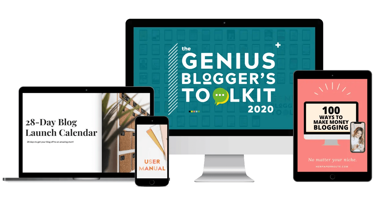The Genius Blogger's Toolkit Full Bundle mockup