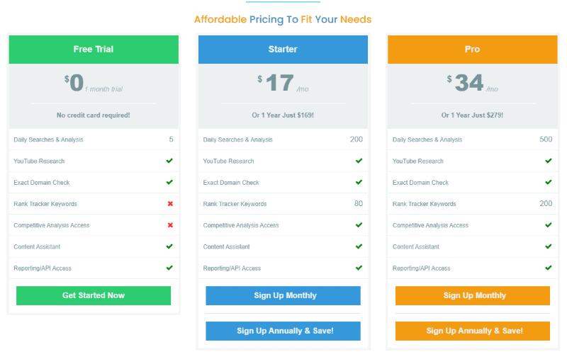 KeySearch Pricing