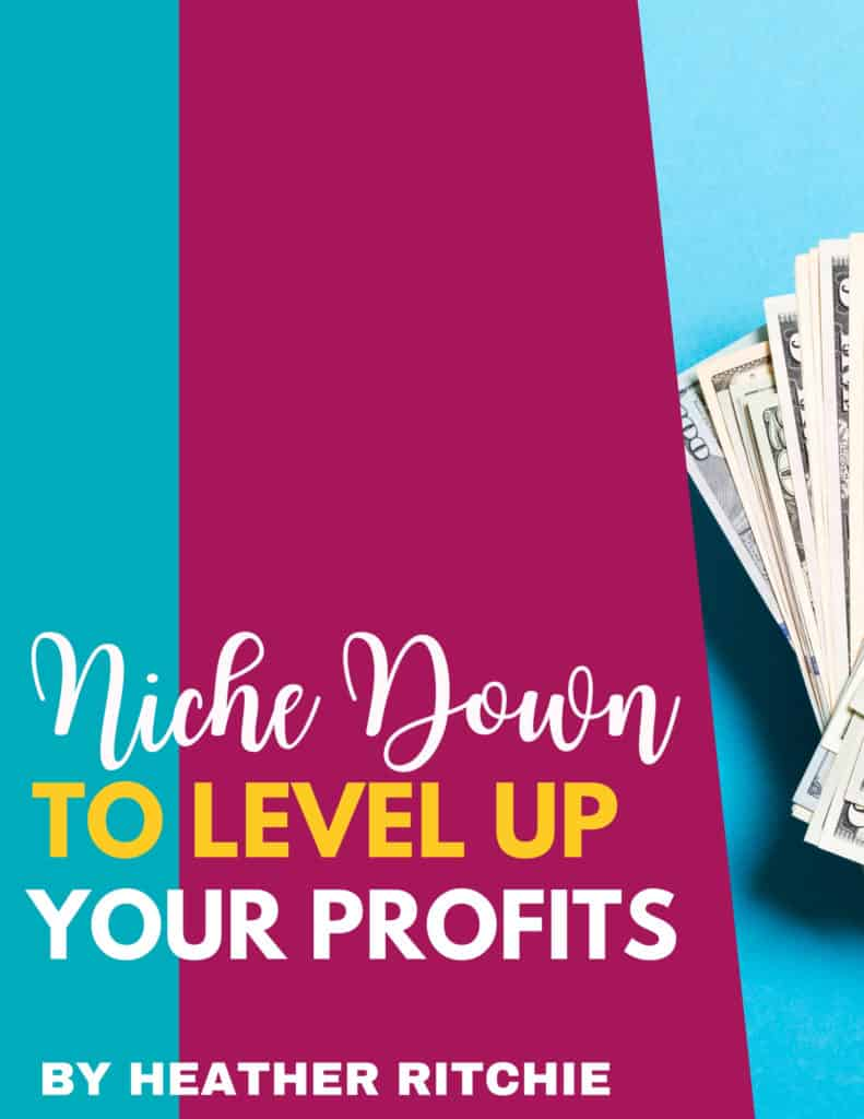 how to find a profitable niche challenge blue background with paper money