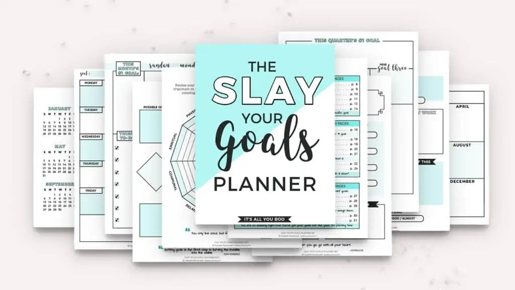 how to plan your week to be productive slay your goals planner