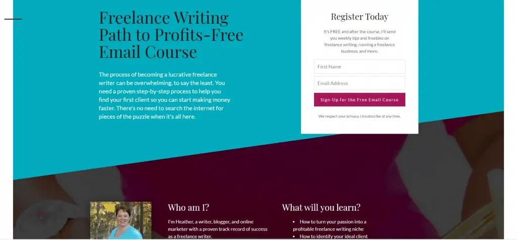 Freelance Writing Path to Profits Course