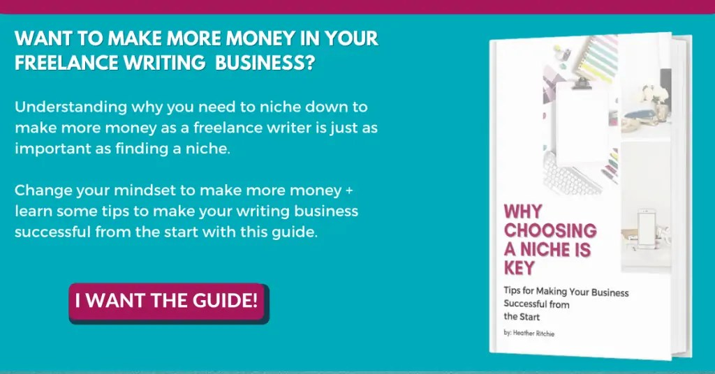 why choosing a niche is key - teal background with picture of white book