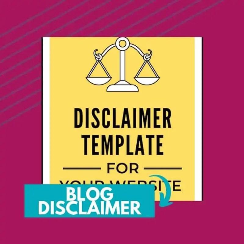 blog disclaimer template