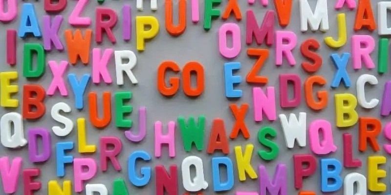 common website mistakes typography multi-colored magnetic letters