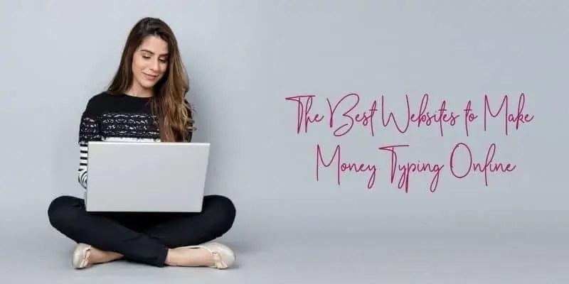 earn money by typing woman sitting cross-legged on laptop