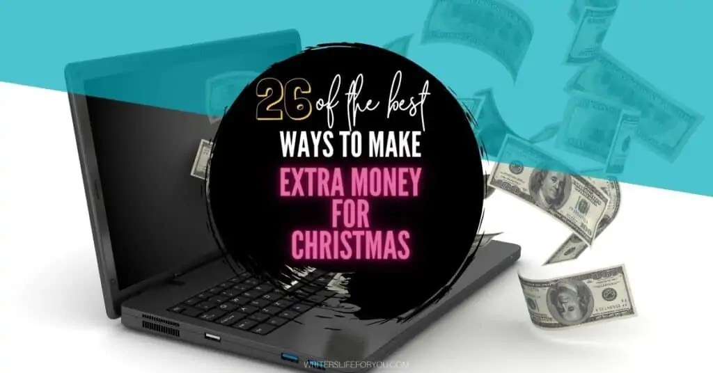 make extra money for Christmas black laptop with money