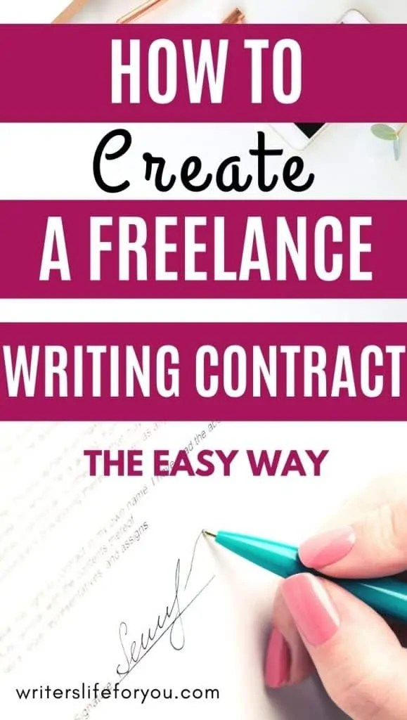 freelance writing contract that protects you