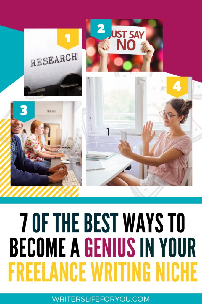 become a genius in your freelance writing niche
