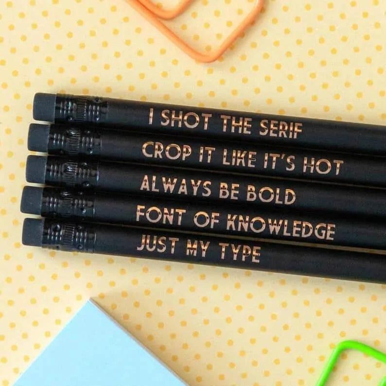 graphic design pencils Bettie Confetti