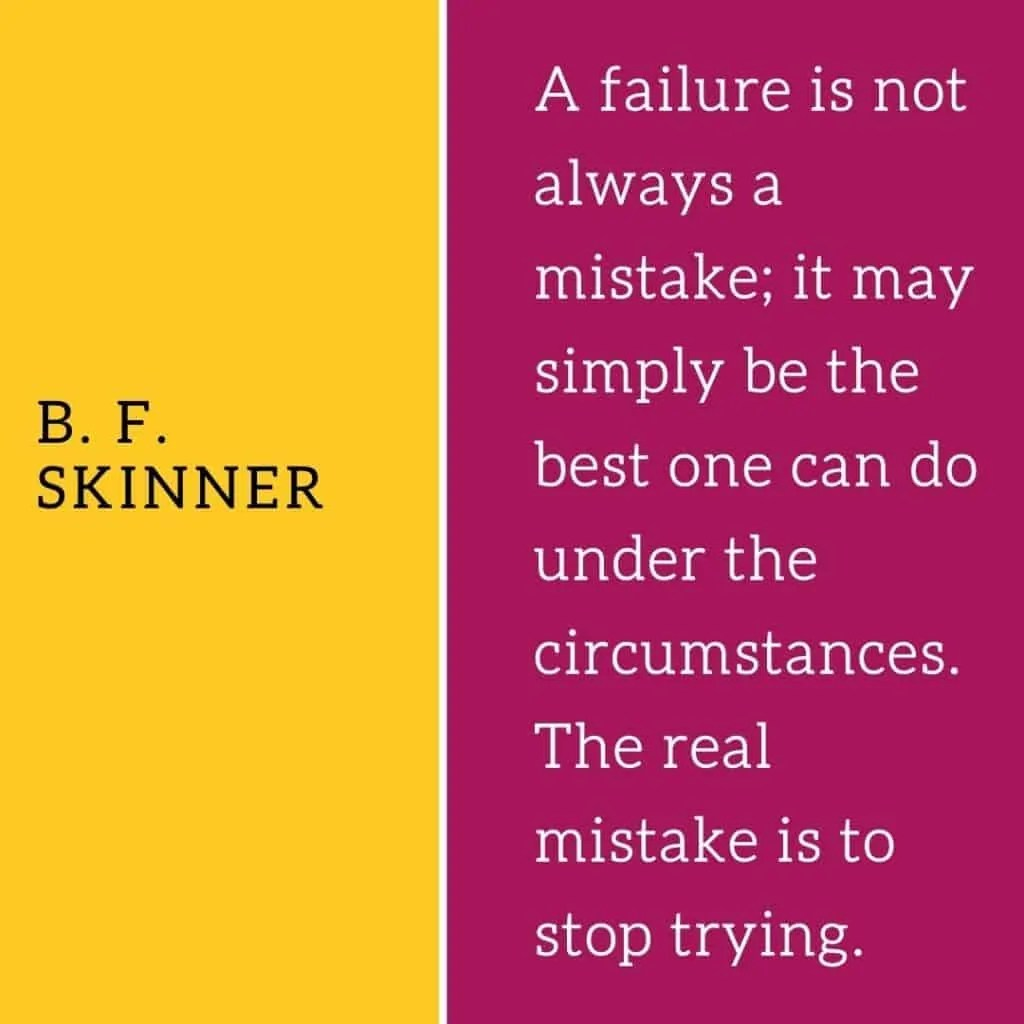 how to deal with failure bf skinner