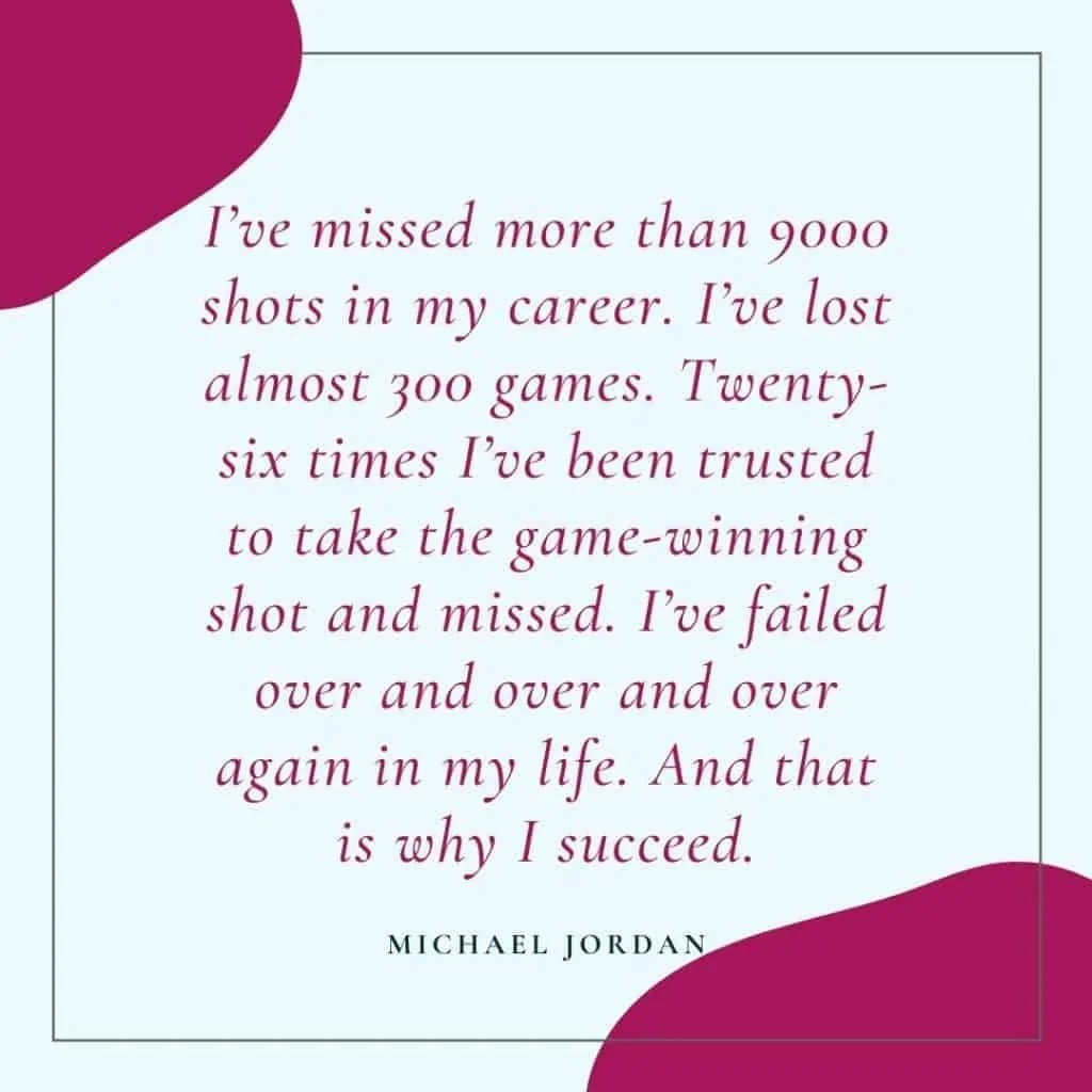 how to deal with failure michael jordan