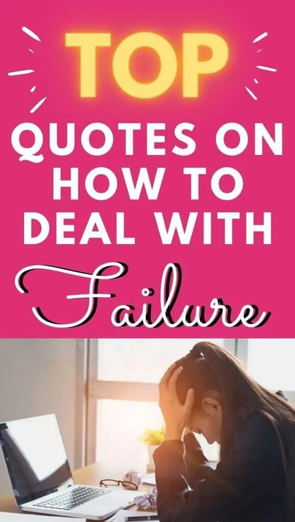 how to deal with failure quotes