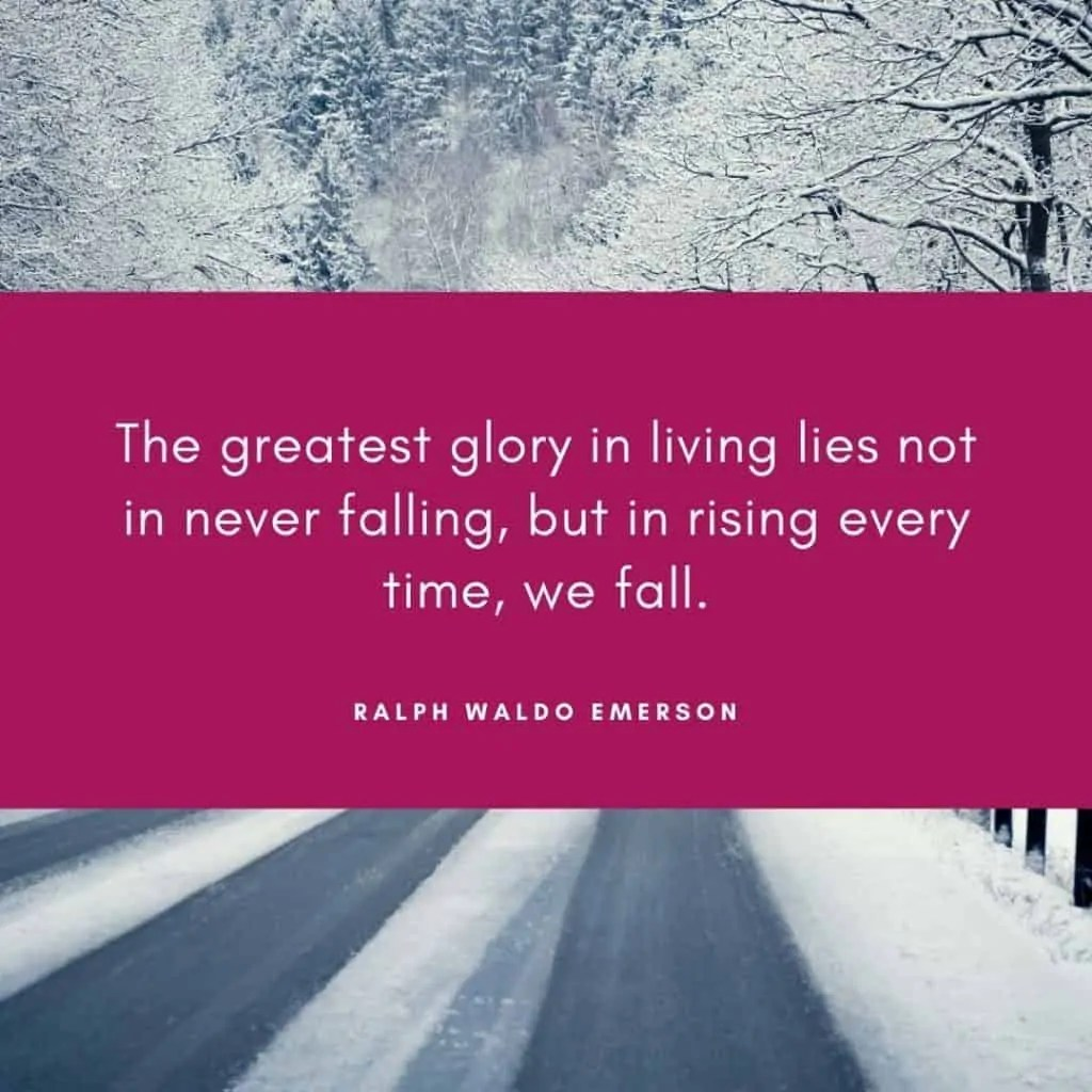how to deal with failure ralph waldo emerson