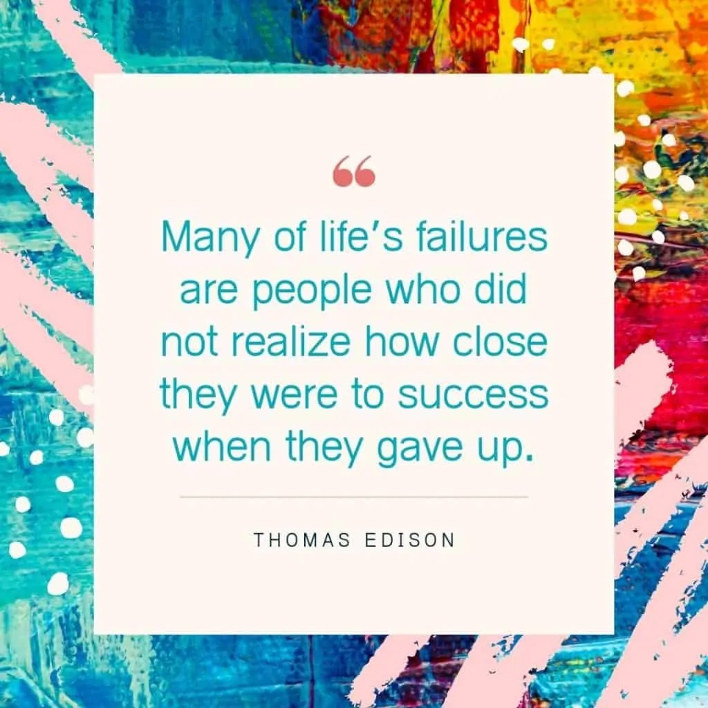 how to deal with failure thomas edison
